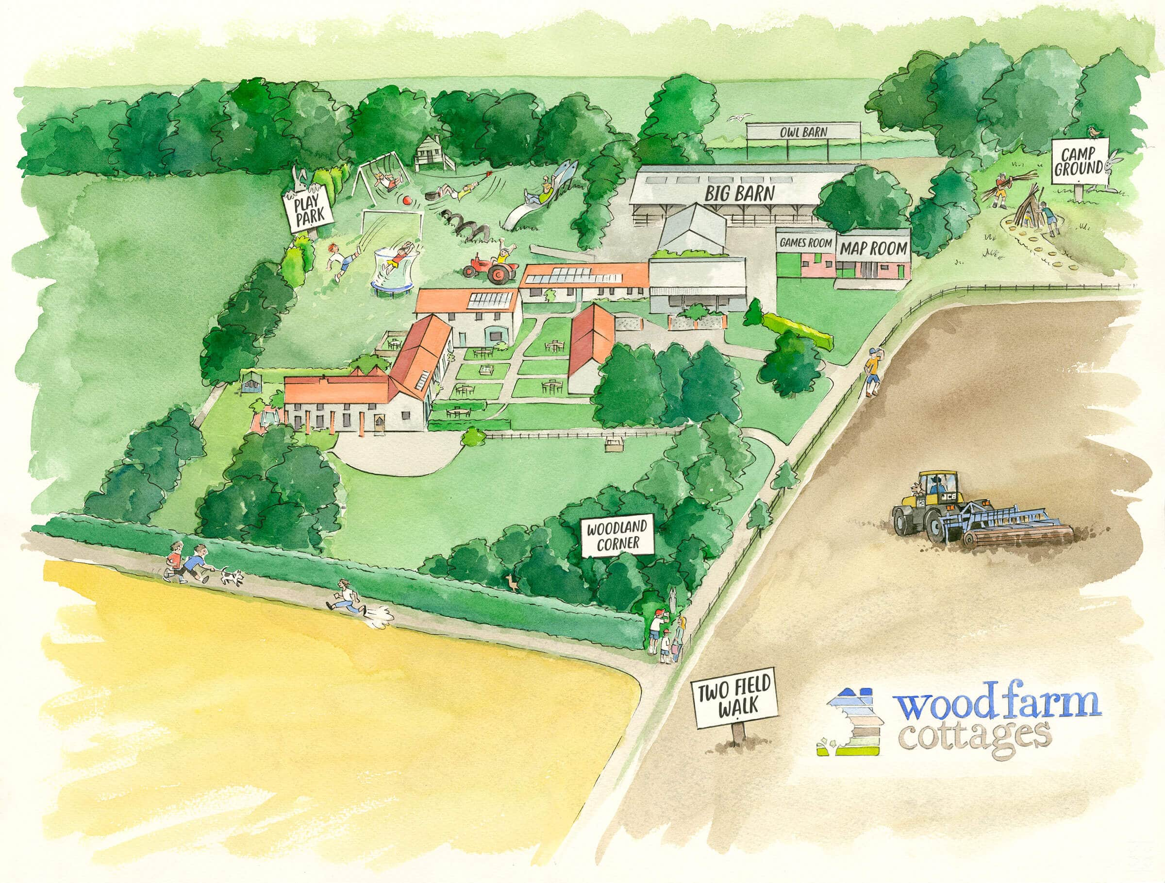 Map of Wood Farm, Norfolk