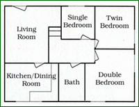 Elm Cottage floor plan