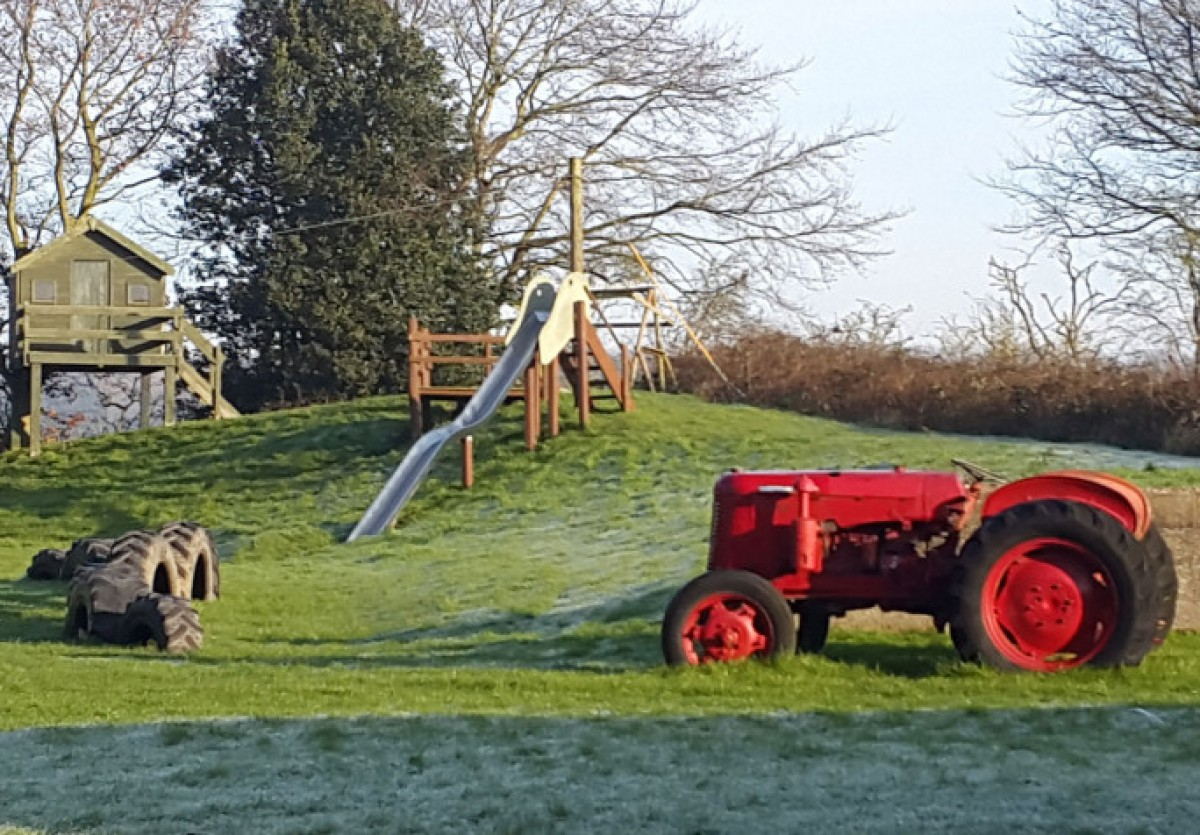 The childrens' playground at Wood Farm