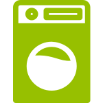 Shared laundry room with washers and dryer available for use of all guests.