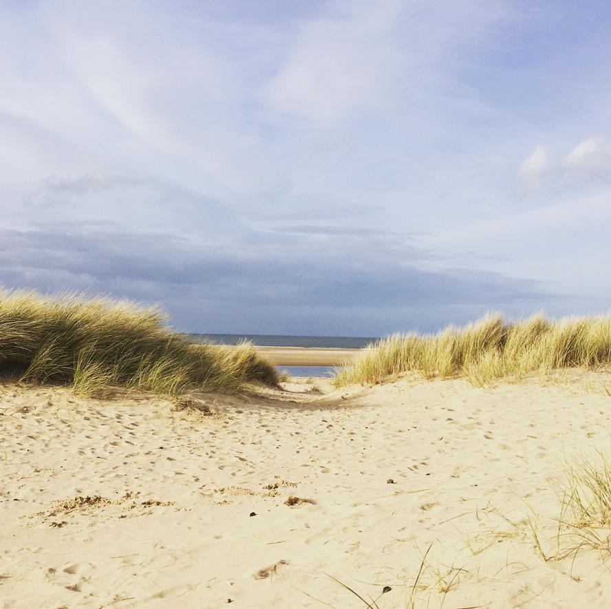 Sand dunes on a beach in North Norfolk