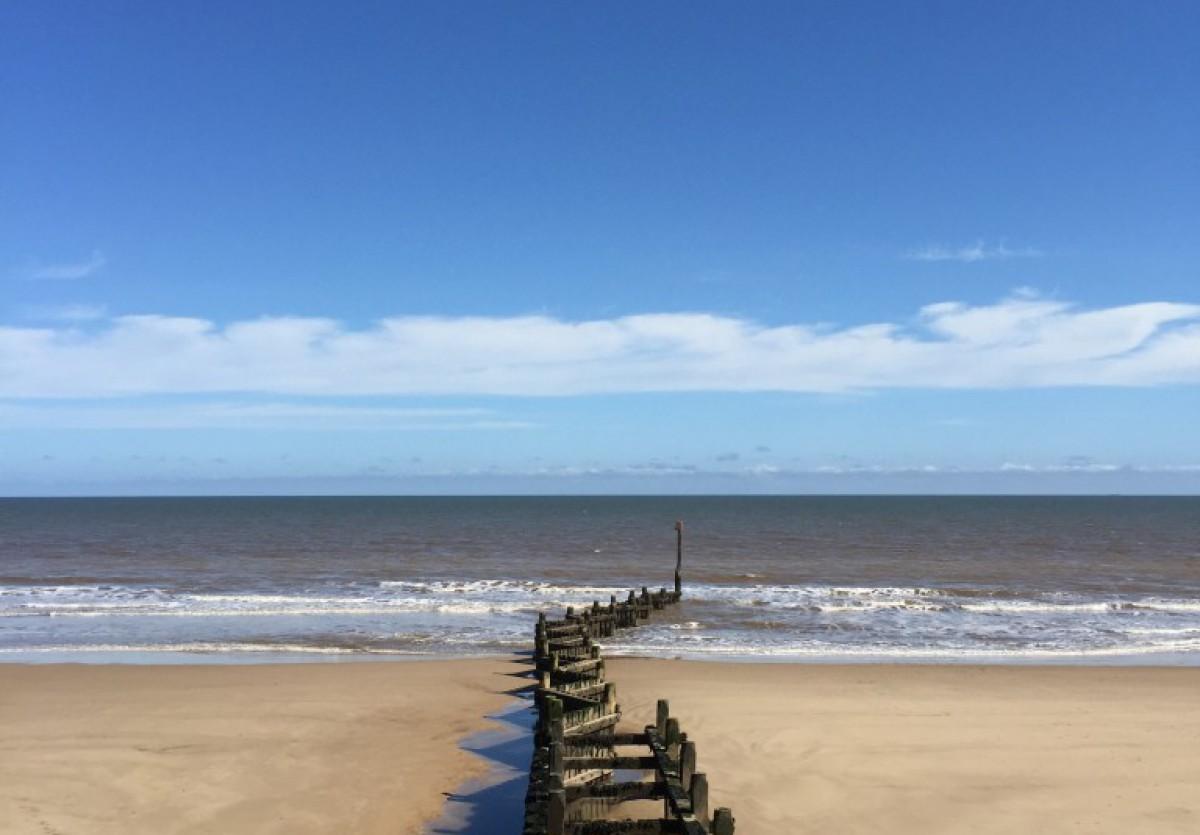 Nearby Cromer beach in North Norfolk